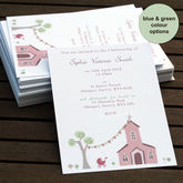 Personalised Christening Or Baptism Invitations - christening