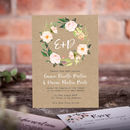 Kraft Floral Elegance Wedding Stationery
