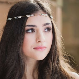 Willow Vintage Beaded Chain Headpiece - wedding fashion