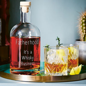 'Fatherhood, It's A Whisky Business' Decanter - gifts for fathers