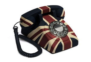 Vintage Style Union Flag Telephone