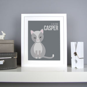 Personalised Cat Nursery Print