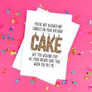 Funny Wtf Birthday Cake Card