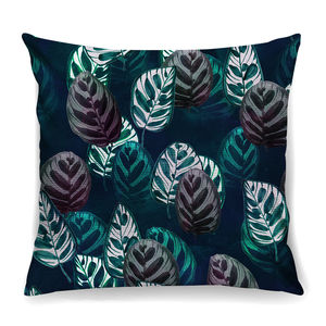 Tropical Leaves Cushion In Lush Velvet + Waterproof - cushions