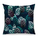 Tropical Leaves Cushion In Lush Velvet + Waterproof