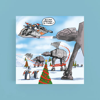 Hoth Penguins Star Wars Christmas Card