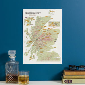 Personalised Scratch Off Whisky Distilleries Print - gifts for him