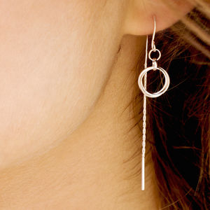 Total Eclipse Threader Earrings - earrings