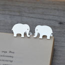 Personalised Elephant Cufflinks In Sterling Silver