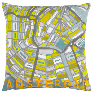 Contemporary Amsterdam City Map Tapestry Kit - sewing & knitting