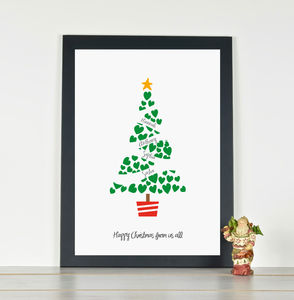 'Christmas Tree' Personalised Family Christmas Print