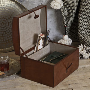 Leather Memory Box - 3rd anniversary: leather