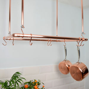 Copper Ceiling Pan Rack, Organiser, Rectangular Shaped - kitchen