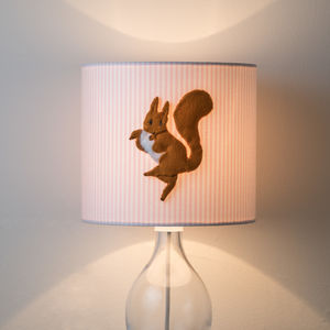 Squirrel Nutkin™ 3D Appliqué Squirrel Lampshade - lighting