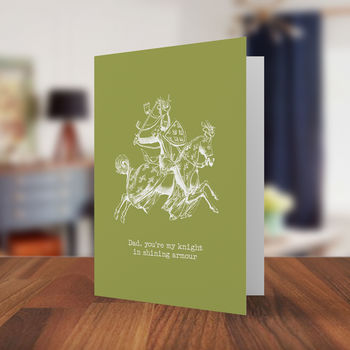 Knight In Shining Armour Father's Day Card