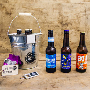 Three Bottle Craft Lager Bouquet - beer & cider
