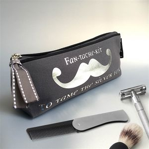 Personalised 'Fan Tache Kit' Grey Luxury Slim Case