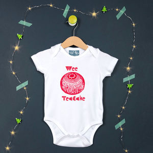 'Wee Teacake' Scottish Baby Vest - clothing