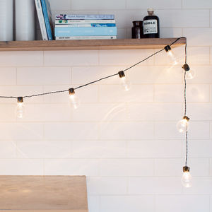 Clear Bulb Battery Festoon Lights - lighting