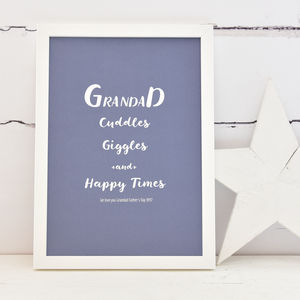 Grandad Personalised Print - family & home