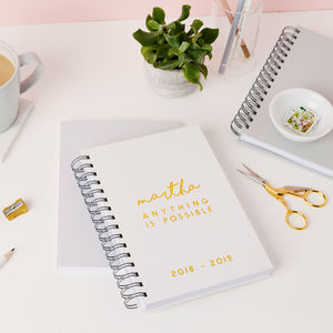 Modern Mid Year Or Academic Diary - 2018/2019 calendars & planners