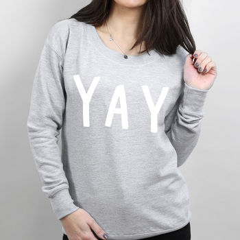 Yay Scoop Neck Women's Sweater