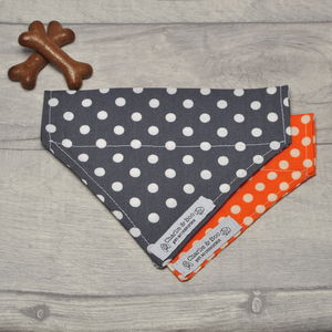Polka Dot Dog Bandana - clothes