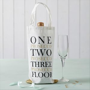 Three Prosecco Floor Gift Bag - mother's day cards & wrap