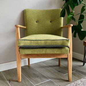 Parker Knoll Midcentury Chair In Bute And Kirkby Wools - armchairs