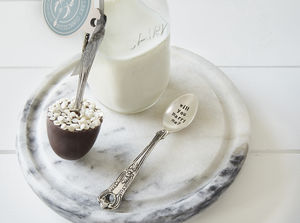 Pearlescent Sprinkles Hidden Message Chocolate Spoon