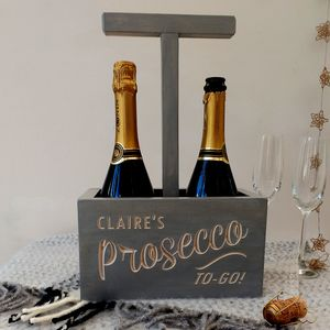 Personalised Engraved Prosecco Crate - shelves & racks