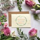 Plantable Wedding Card