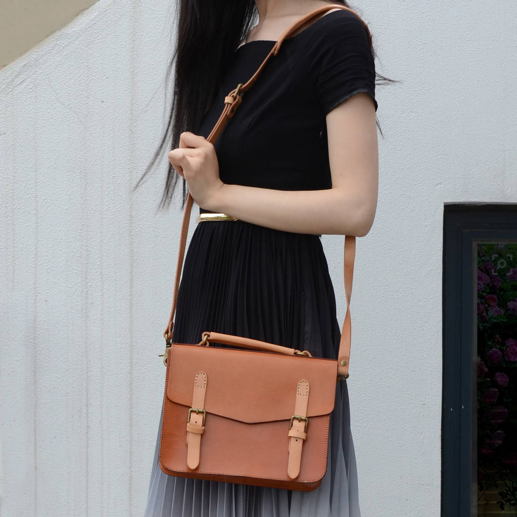 Leather Satchel Bag For Ladies