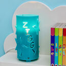 Turquoise personalised star night light