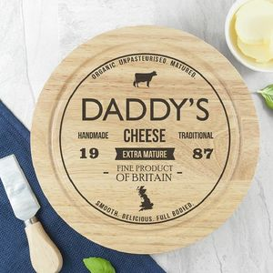 Personalised Wooden Cheeseboard Set - cheese boards & knives