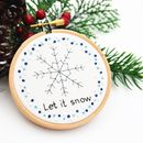Hand Embroidery Snowflake Christmas Decoration