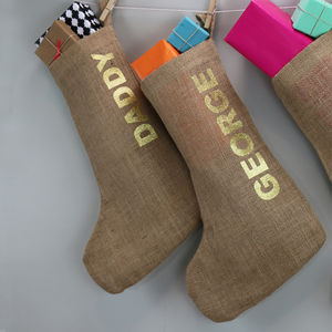 Glitter Stocking - stockings & sacks