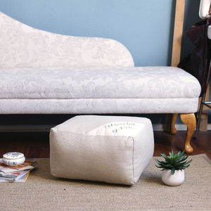 Put Your Feet Up Mum Footstool Pouffe - footstools & pouffes