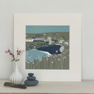 Port Isaac Limited Edition Lino Print - nature & landscape