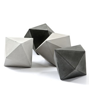 One Concrete Trigonal Dodecahedron Sculpture - home accessories