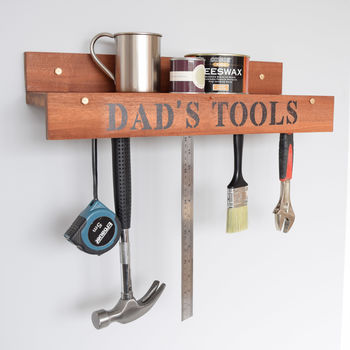 Personalised Diy Tool Shelf For Dad