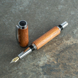 'Socrate' Luxury Mahogany Fountain Pen Handcrafted