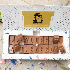 Chocolate Engagement Card