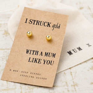 Struck Gold Mum Earrings