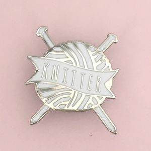'Knitter' Knitting Enamel Pin Badge Pin