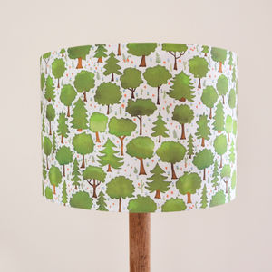 Woodland Trees Lampshade - children's lighting
