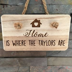 Home Is Where The Family Is Solid Wooden Plaque