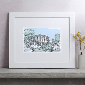 Personalised Wedding Venue Portrait - gifts for her