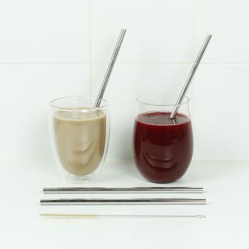 Set of 2 Straws with brush (SGS201)