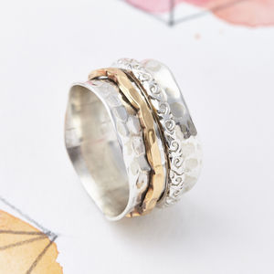 Aura Silver Spinning Ring